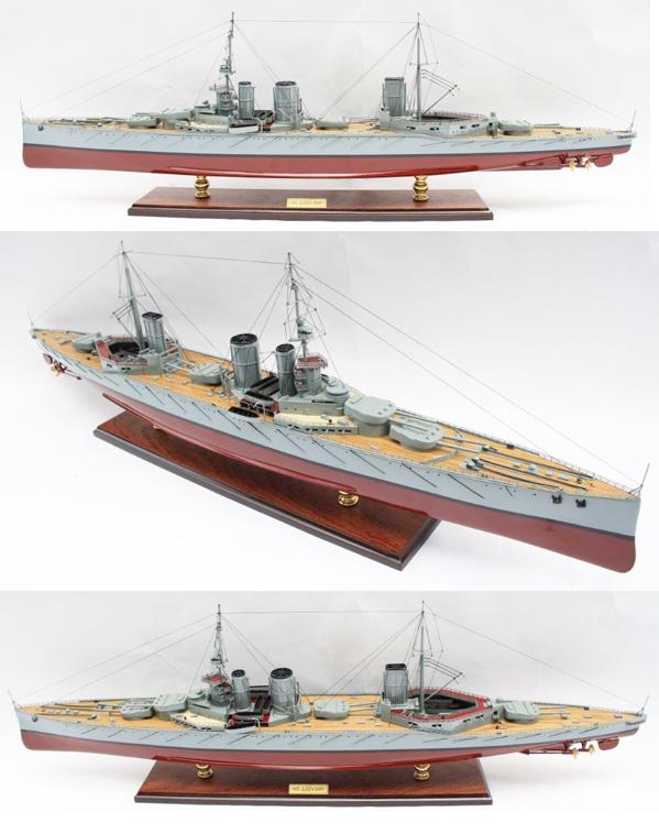 英国海軍巡洋艦 HMS Queen Mary  87cmL 精密級木製完成品